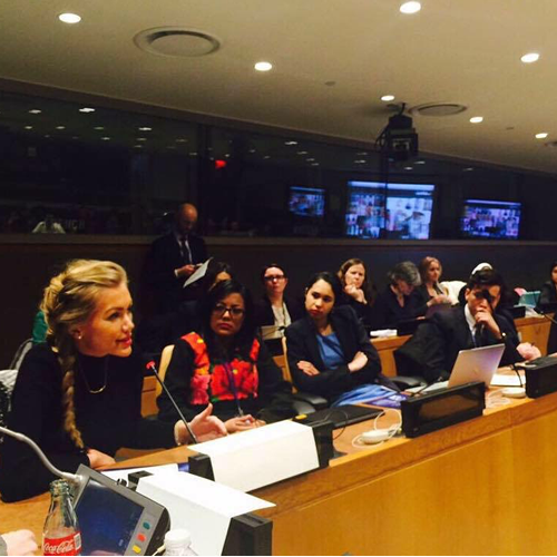 Youth Champion - speaking on panel at United Nations headquarters on disabilities and women empowerment in entrepreneurialism